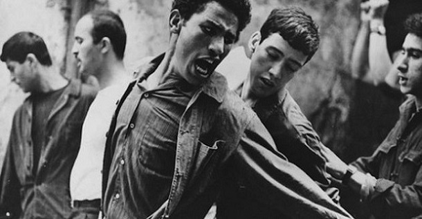 "A scene from ""The Battle of Algiers"""