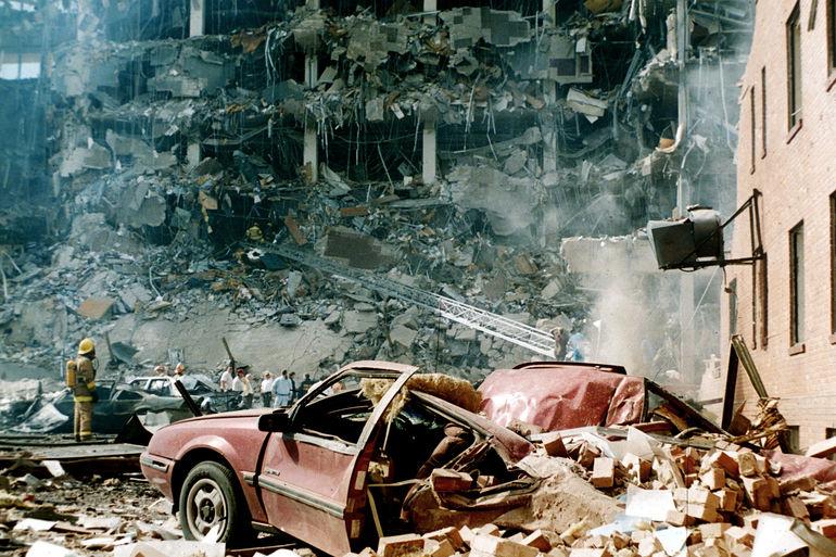 Murrah Federal Building, Oklahoma City, April 19, 1995.
