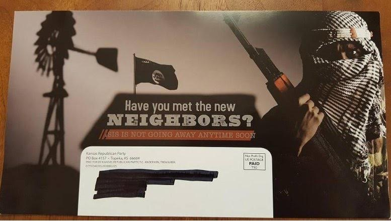 Campaign mailer produced by the Kansas State Republican Party