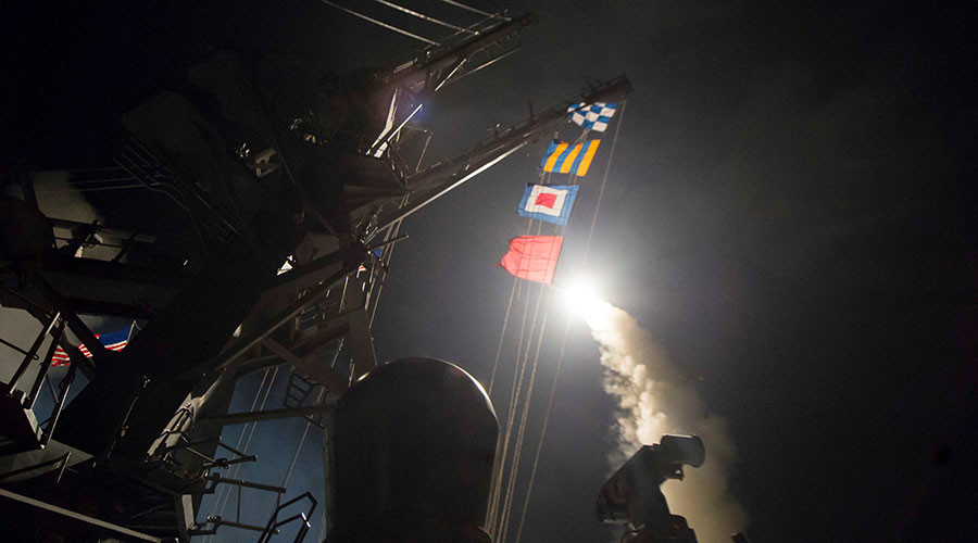 US cruise missiles launched against Syria/DoD photo