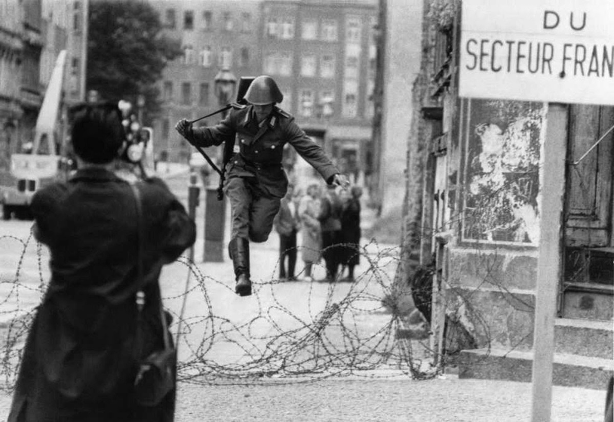 Conrad Schumann's leap to freedom, 1961.