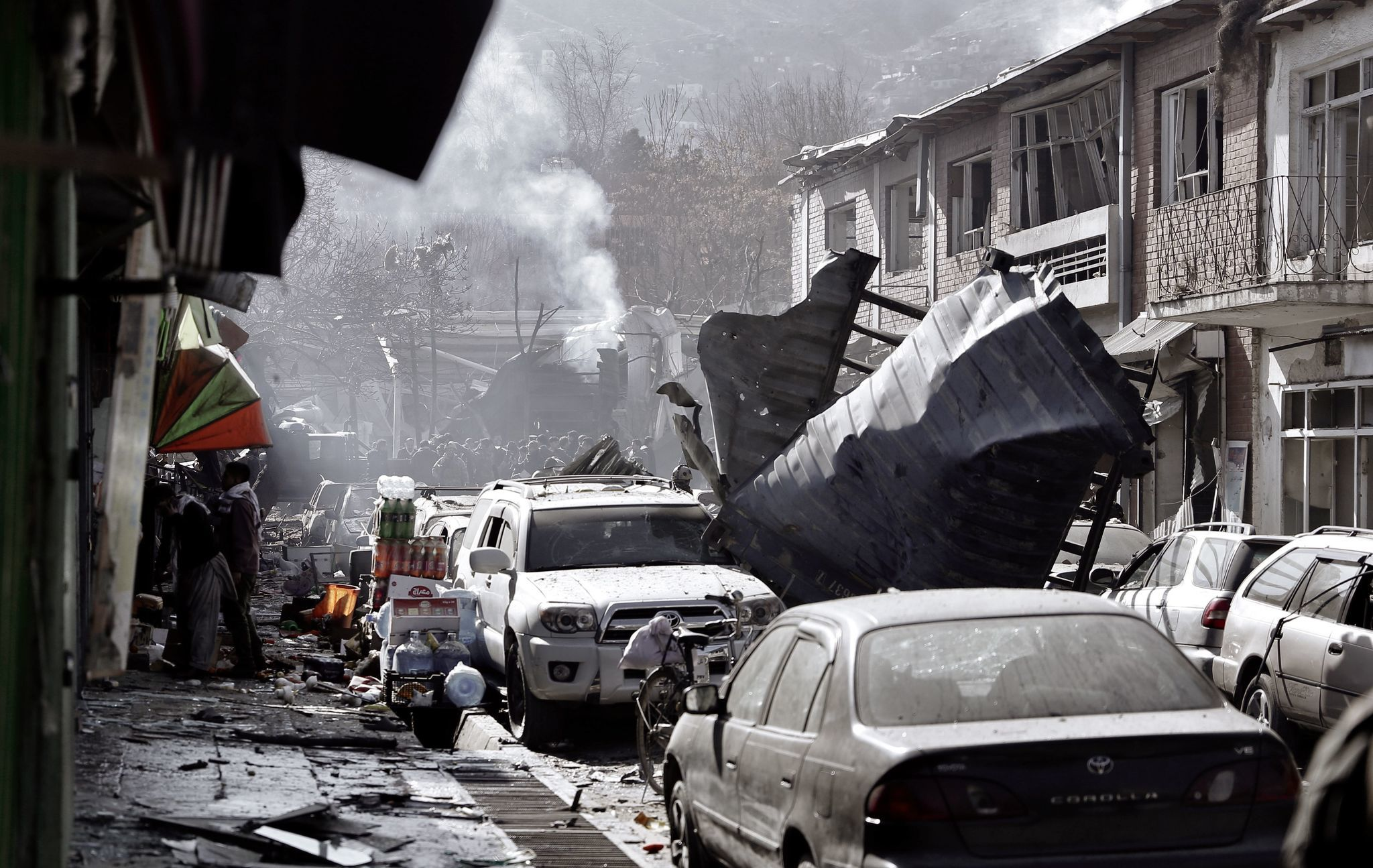 Aftermath of Saturday's bombing in Kabul. (Chicago Tribune)