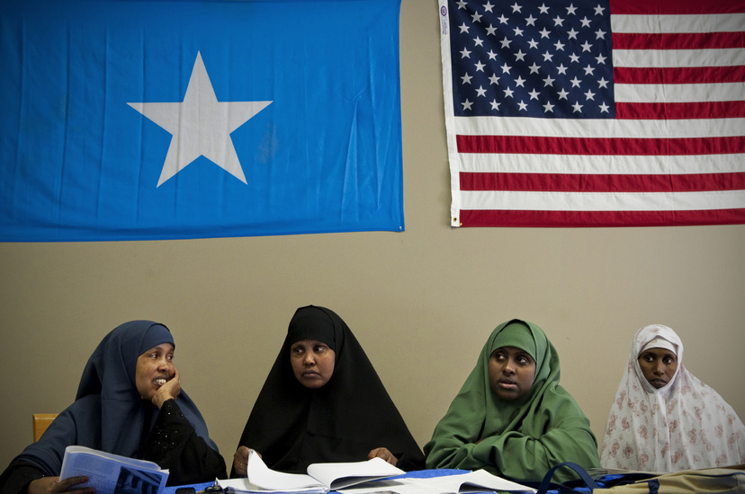Somali immigrants, like these women at community center in Garden City, Kan., were the intended targets. (Photo: Adam Reynolds)